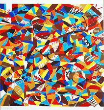 Joh. comunidades círculo/abstracción tempera 1986, 70 x 70 CM, Helmut Dittmann 1931-2000