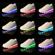 Men Women USB Charger LED Lights Lace Up Luminous Shoes Sportswear Sneaker
