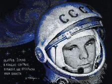 RIOLIS  1961  Yuri Gagarin  Broderie  Point de Croix  Compté