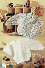 baby boys girls jacket and sweater dk or 4ply knitting pattern 99p 201