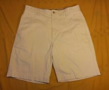CHAPS 32 men's flat front Cotton Stone off-white golf casual Shorts