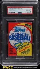 1985 Topps Baseball Wax Pack PSA 8 NM-MT