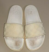Louis Vuitton Men White Sandals Made In ITALY - USED