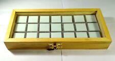 GEMSTONE Diamond Display Storage wooden box with 21 transparent plastic boxes