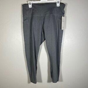 NEW All In Motion Target Light Gray High Rise Capri Leggings Pockets $30 XL
