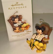 Mickey Mouse Pluto Disney Hallmark Ornament Dreaming of Christmas 2006