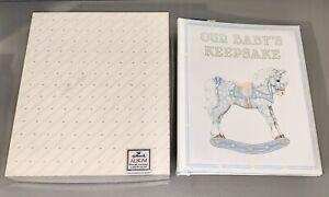 *BRAND NEW* Vintage 1986 Hallmark Baby Keepsake Album Book Rocking Horse ALB2064