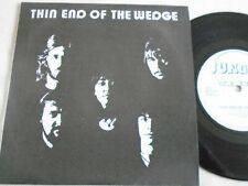 """NWOBHM 7"""" - THIN END OF THE WEDGE - LIGHTS ARE ON GREEN / DEAD YET 1981 UK  EX"""