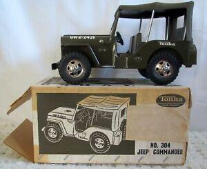 1964 Tonka Army Jeep GR 2-2431 Military Pressed Steel NOS w/ box No 304