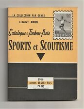 SPORTS & SCOUTISME, Catalogue de Timbres-Poste 1966, sport, scouting on stamps
