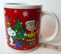Peanuts Charlie Brown Snoopy and Woodstock Christmas Coffee Mug