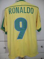 RONALDO LIMA BRAZIL WORLD CUP 1998 SOCCER JERSEY FOOTBALL SHIRT M VTG CAMISETA