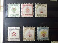 timbres Colombie 1947 fleurs YT n° 405 à 410 **