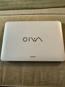 Sony Vaio White Touchscreen Laptop