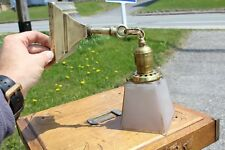 ANTIQUE WALL SCONCE LIGHT FIXTURE MISSION ARTS & CRAFTS STYLE WITH GLASS SHADE