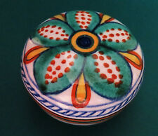Gialletti Giulio Deruta Italy Floral Covered Ceramic Trinket / Jewelry Box