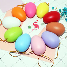 10 Pcs Plastic Multi-Color Fake Easter Eggs DIY Tricky Toy Gift Party Decor Calm