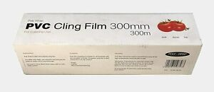 PVC Kitchen Cling Film Roll For Catering Food Baking Wrapping 300mm x 300M Jumbo