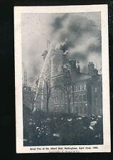 Nottinghamshire Notts NOTTINGHAM Albert Hall fire 1906 PPC