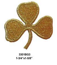#3301BG3 Lot 2PCS Irish Shamrock,ST Patrick's Day Leaf,  Iron On Appliqué Patch