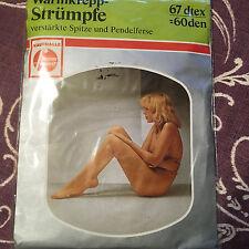 Vintage German Warmkrepp strumfe stockings / pantyhose w model