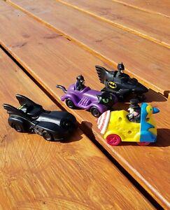 McDonalds DC Batman Happy Meal Toy Rolling Vehicle Set Of 4 1991 Play VINTAGE!