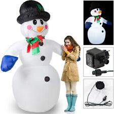 Bonhomme de neige gonflable 240x170x115cm décoratif 20 LED Décoration lumineuse