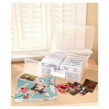 Plastic Carry Case 1600 Photo Storage Organizer Translucent with 16 Inner Cases
