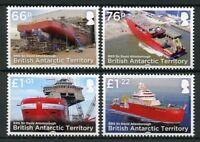 BAT Brit Antarctic Ter Ships Stamps 2018 MNH RRS David Attenborough Boats 4v Set