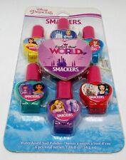 DISNEY PRINCESS SMACKERS 6 Pc Assorted Color Water Based Nail Polish NIP