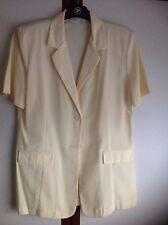Prima Ladies Short Sleeved Jacket With Padded Shoulders - Size 14 Lemon