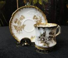Vintage Hammersley 6117 England Bone China Tea Cup & Saucer Thistle & Heavy Gold