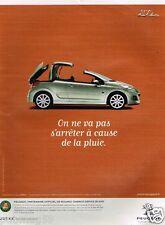 Publicité advertising 2010 Peugeot 207 CC