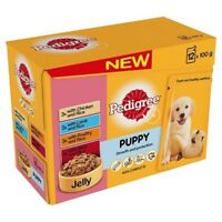 Pedigree Puppy Wet Food With Meat Selection In Jelly, 12 x 100g - Pouches Jelly