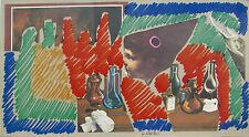 Sergio DANGELO (Milano 1932) L' ANGELUS, ALTRO capolavoro su cartone cm 16x29