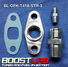 Precision Turbo Oil Fitting Kit (-3AN Str. Feed) Fits ALL Square Drain PTE's!