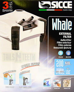 Sicce Whale External Aquarium Canister Filter 200 Special Edition White > 50gal