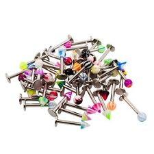 Labret Tragus Stud Ring 14g Ball & Spike  Mix Colors 50 Pack