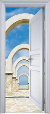 Sticker porte trompe l'oeil déco Arches 90x200 cm réf 2133