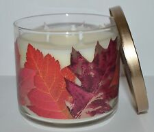 NEW BATH BODY WORKS CARAMEL WOODS SCENTED CANDLE 3 WICK 14.5 OZ LARGE DECORATIVE