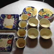 TableTop Unlimited - Di Frutto -  Bowls, Mugs and Linen-n-Things Dishes !!