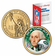 NEW YORK JETS Colorized Presidential $1 Dollar U.S. Coin Football NFL LICENSED