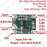 DC Buck Step Down Power Supply Converter Regulator Module 1.5v 1.8v 3.3v 4.2v 2A