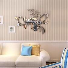 3d Mirror Removable Wall Sticker Art Acrylic Flower Decal Wall Home Decor 01 Silver