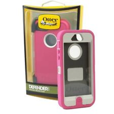 New authentic OtterBox iPhone 5  Pink White Defender Case+Holster Belt Clip