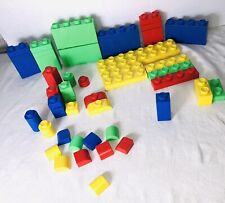 Vintage 1985 GIGA Building Block System 54 Pieces Made in the USA