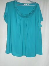 Cato Size 18/20 W  short sleeve career top blouse green