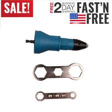 Electric-Rivet Gun Pops Insert Nut Adaptor Drill-Adapter Cordless Riveting Kit