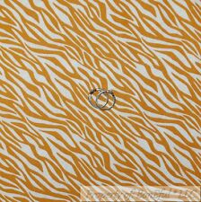 BonEful FABRIC FQ Cotton Quilt White Yellow Gold Zebra Skin Print Jungle Safari
