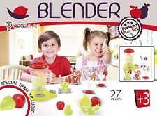 Pretend Play Food 27-Piece Colorful Assorted Blender Plastic Toy Set